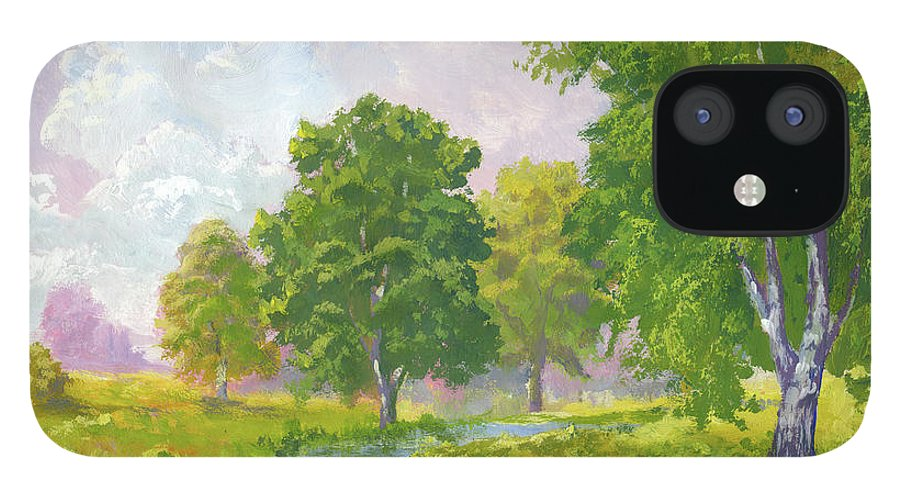 Scenics IPhone 12 Case featuring the digital art Beautiful Summer by Pobytov