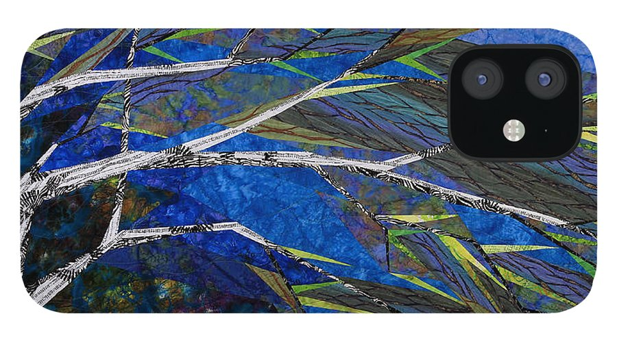 Tree IPhone 12 Case featuring the tapestry - textile Bending Not Breaking by Linda Beach