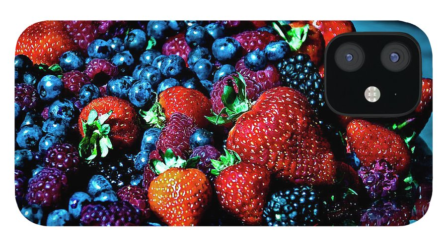 Serving Dish IPhone 12 Case featuring the photograph Berrylicious by Daniela White Images