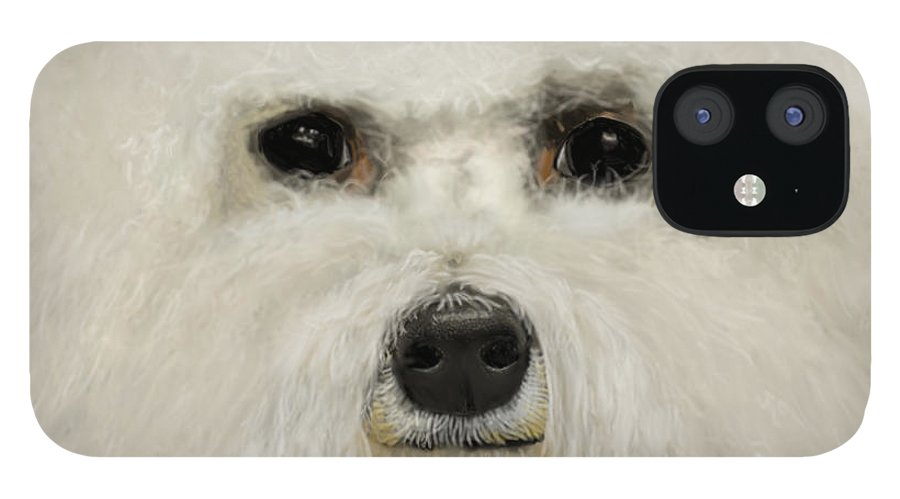 Bichon Frise IPhone 12 Case featuring the drawing Bichon Frise by Myke Irving