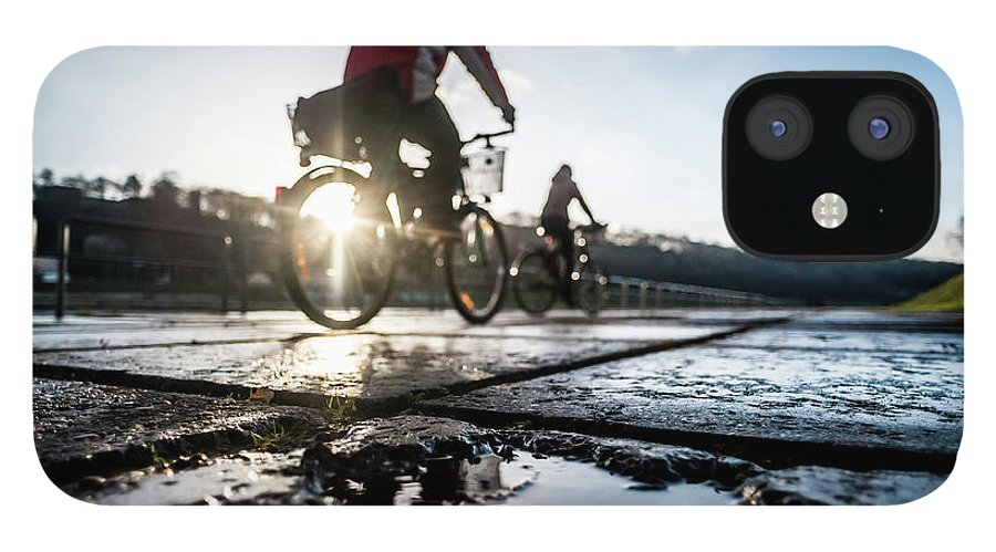 People IPhone 12 Case featuring the photograph Bicycles by A. Aleksandravicius