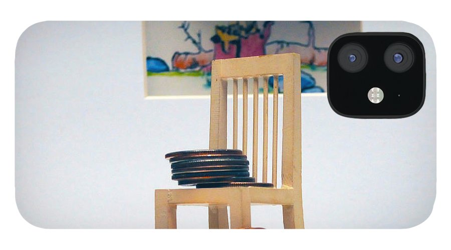 Coins On A Chair IPhone 12 Case featuring the photograph Chump Change by Leon Hollins III