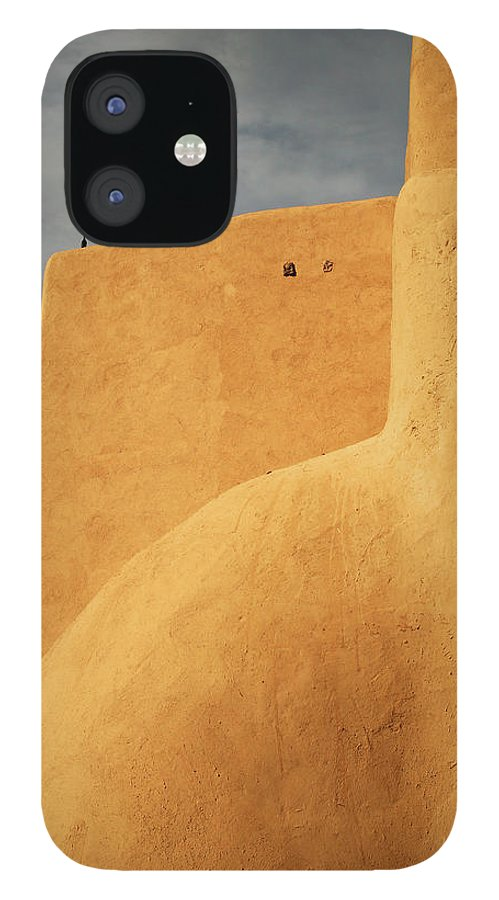 Built Structure IPhone 12 Case featuring the photograph Birds Perched On A Yellow Building by Win-initiative