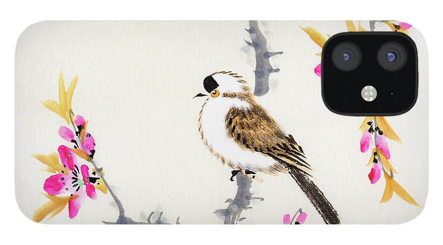 Chinese Culture IPhone 12 Case featuring the digital art Birds by Vii-photo