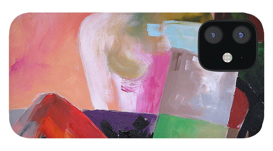 Art IPhone 12 Case featuring the painting Black Glove 2 by Linda Monfort