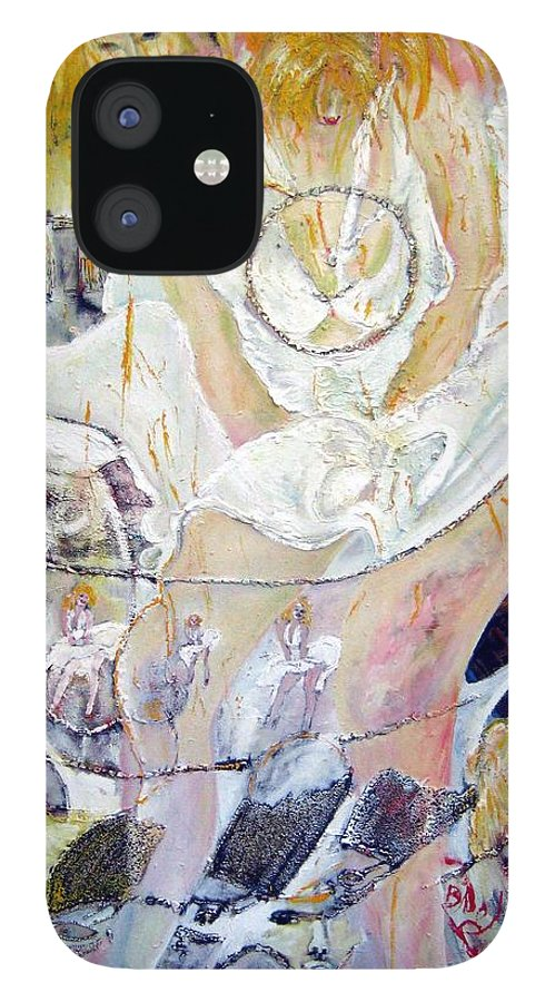 Figurative IPhone 12 Case featuring the painting Blondie  by Peggy Blood