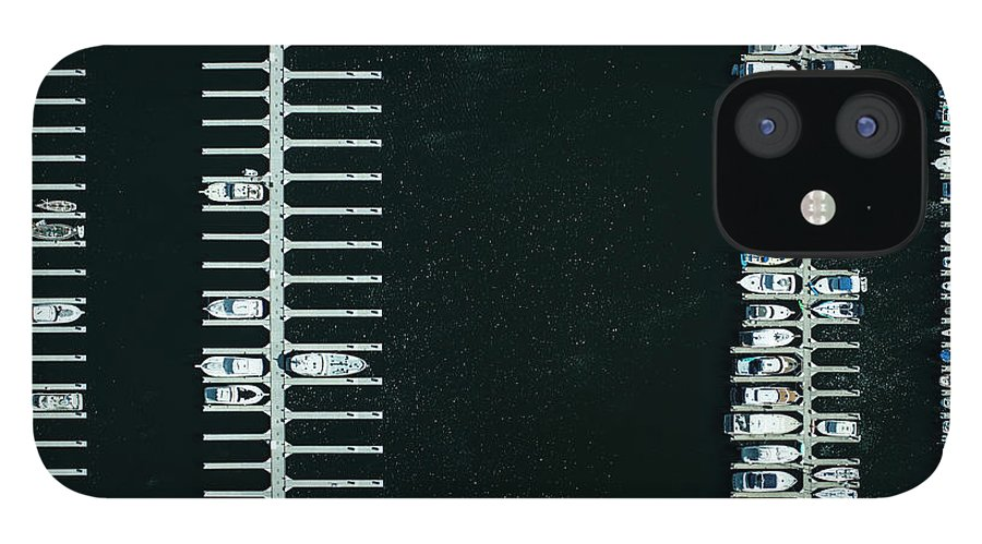 Tranquility IPhone 12 Case featuring the photograph Boats In The Harbour by Michael H