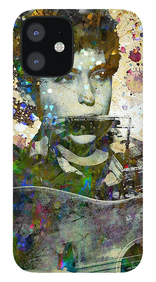 60s IPhone 12 Case featuring the painting Bob Dylan Original Painting Print by Ryan Rock Artist