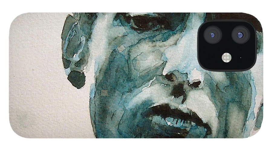 Bob Dylan IPhone 12 Case featuring the painting Bob Dylan by Paul Lovering