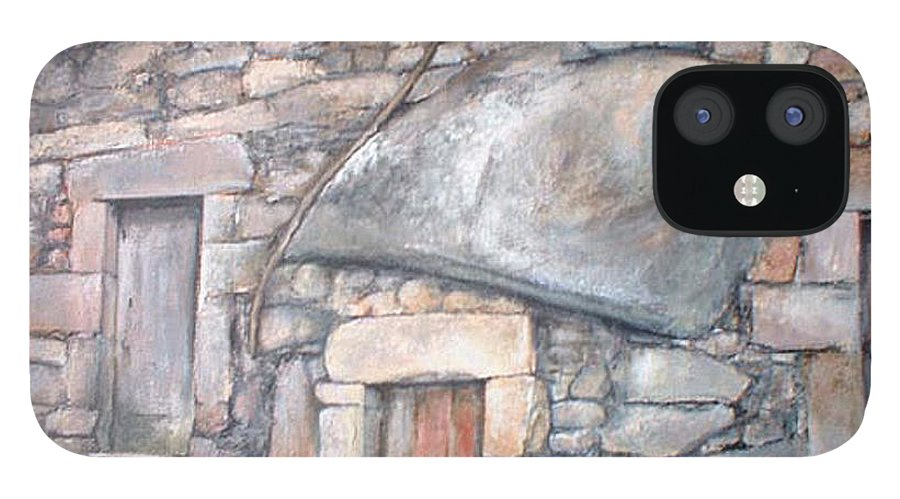 Fermoselle IPhone 12 Case featuring the painting Bodega en Fermoselle by Tomas Castano