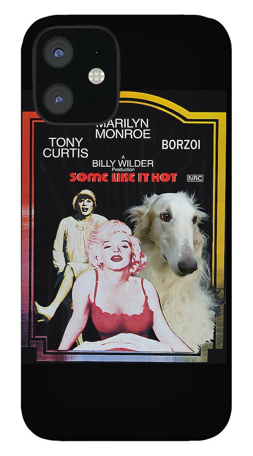 Dog IPhone 12 Case featuring the painting Borzoi Art - Some Like It Hot Movie Poster by Sandra Sij