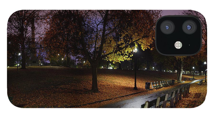 Tranquility IPhone 12 Case featuring the photograph Boston Common Park by By Yuri Kriventsov