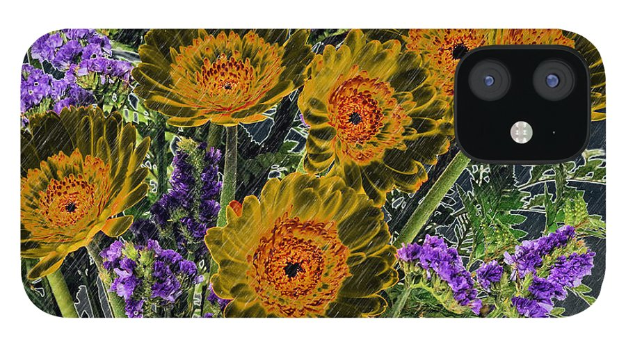 Flower IPhone 12 Case featuring the photograph Bouquet of Daisies by Keith Gondron