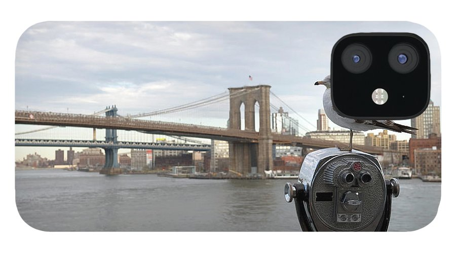 Lower Manhattan iPhone 12 Case featuring the photograph Brooklyn Bridge by Kevinjeon00