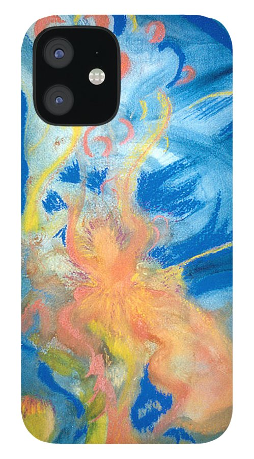 Music IPhone 12 Case featuring the painting Brzilian Rhythms by Phoenix Simpson