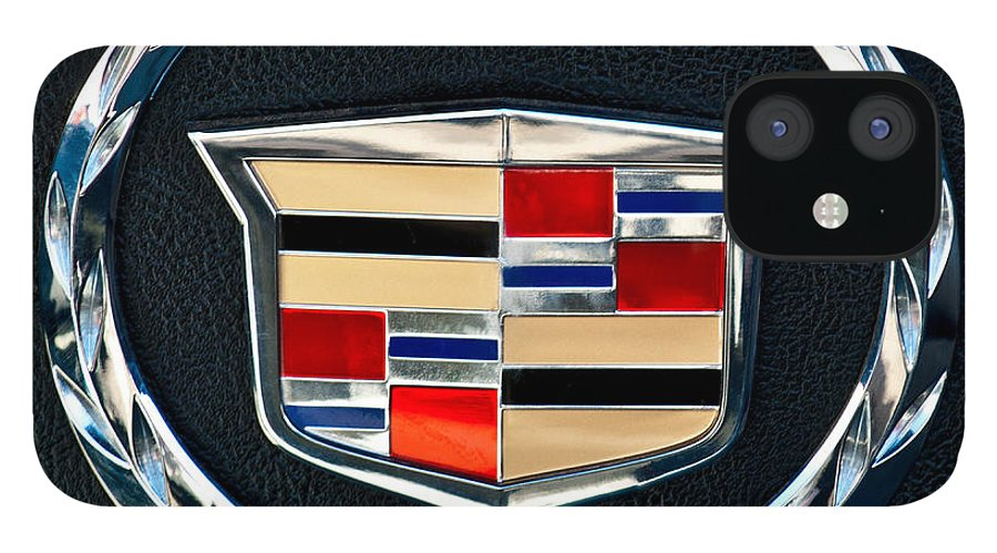 Cadillac Emblem IPhone 12 Case featuring the photograph Cadillac Emblem by Jill Reger