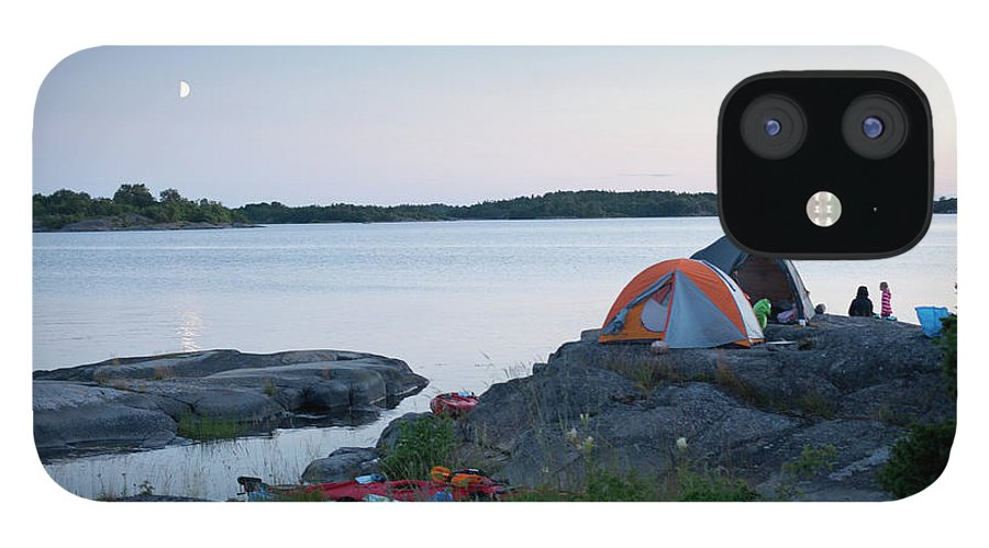 Archipelago IPhone 12 Case featuring the photograph Camping At Coast At Evening by Johner Images