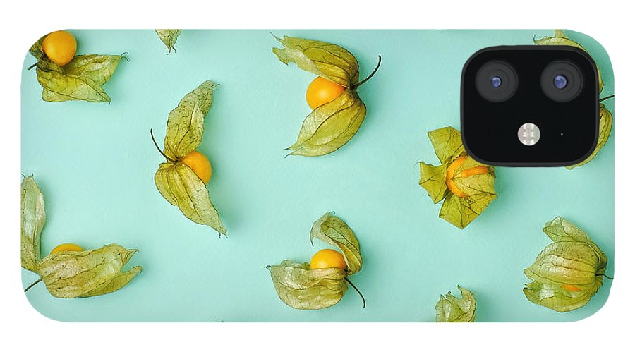 Winter Cherry IPhone 12 Case featuring the photograph Cape Gooseberries Physalis, Winter by Juj Winn