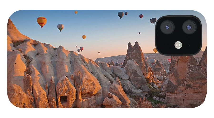 Wind IPhone 12 Case featuring the photograph Cappadocia, Turkey by Benstevens