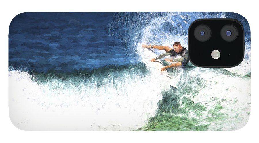 Surfer IPhone 12 Case featuring the photograph Catching a wave by Sheila Smart Fine Art Photography
