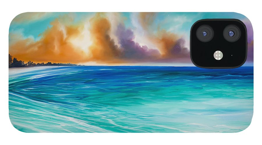 Sunrise IPhone 12 Case featuring the painting Cazumel by James Christopher Hill