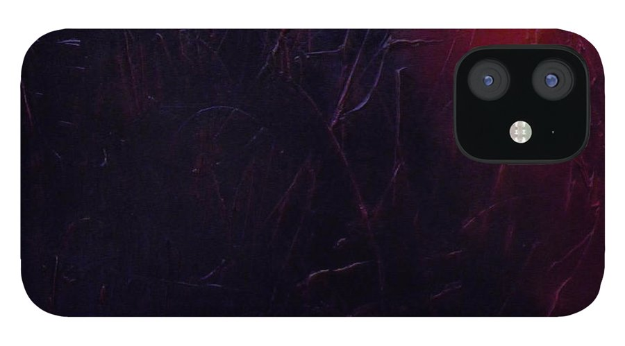 Abstract iPhone 12 Case featuring the painting Chaos by Sergey Bezhinets