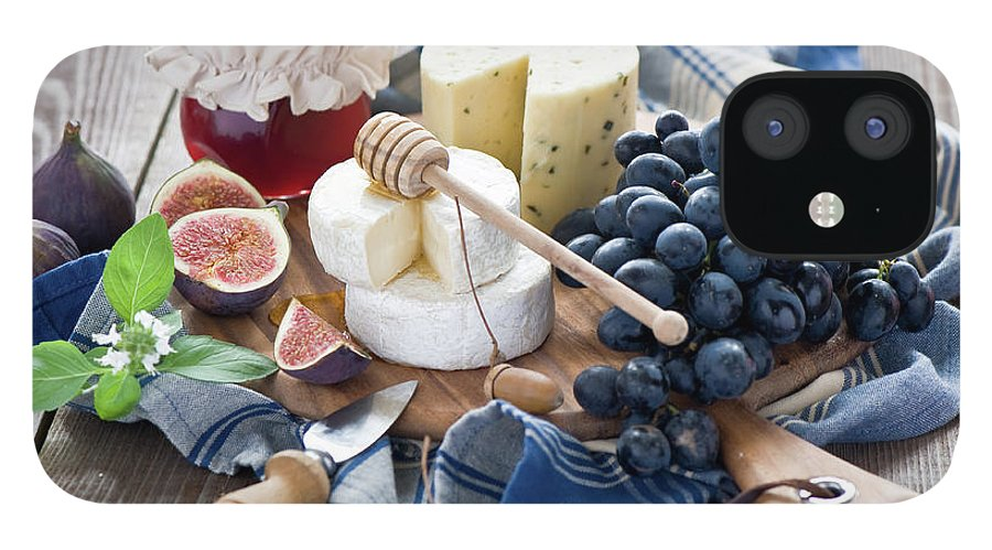 Plum IPhone 12 Case featuring the photograph Cheese Board by Verdina Anna