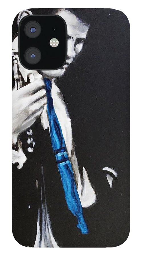 Chet Baker IPhone 12 Case featuring the painting Chet Baker - Almost Blue by Eric Dee