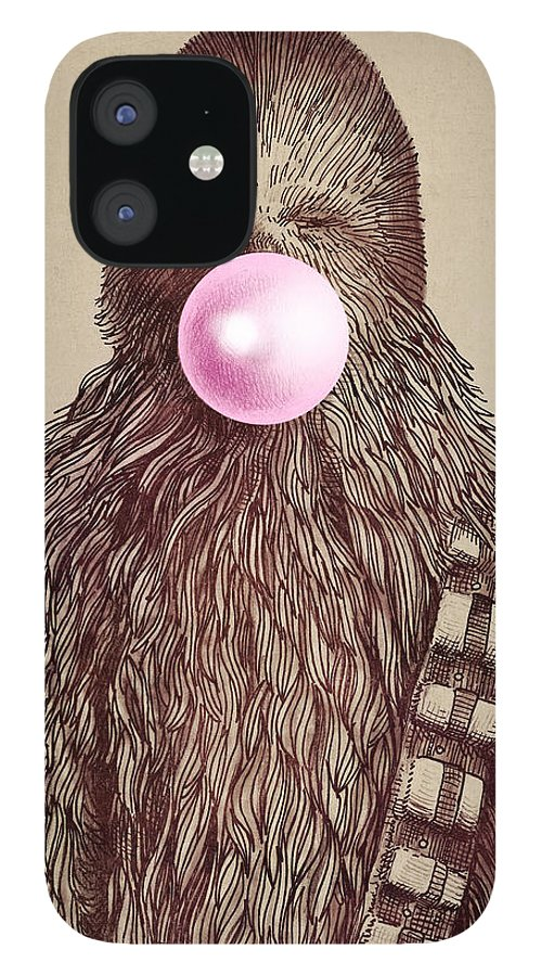 Bubblegum IPhone 12 Case featuring the drawing Big Chew by Eric Fan