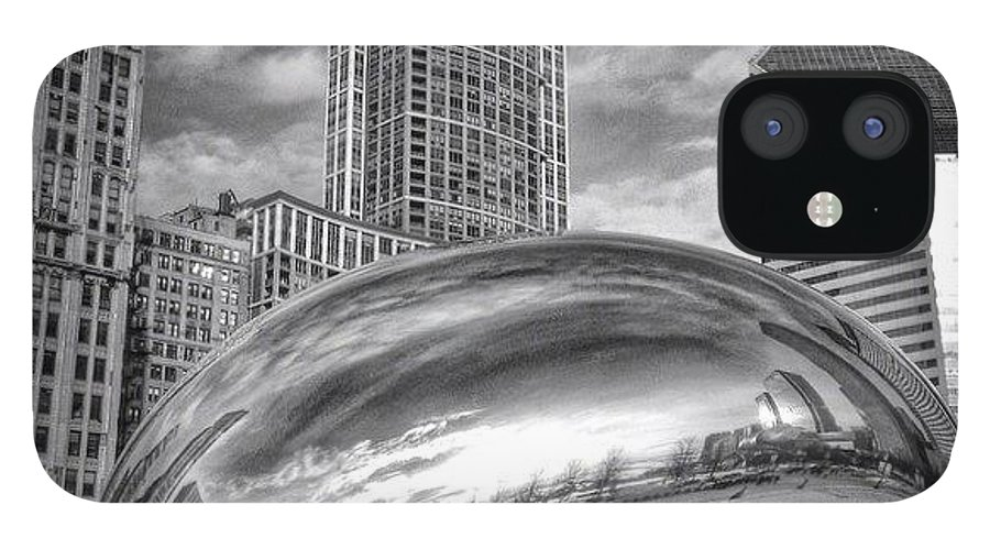 America IPhone 12 Case featuring the photograph Chicago Bean Cloud Gate HDR Picture by Paul Velgos