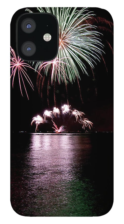 Lake Michigan IPhone 12 Case featuring the photograph Chicago Fireworks by 400tmax