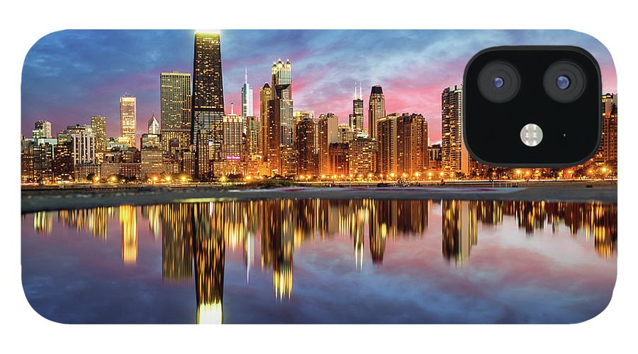 Tranquility IPhone 12 Case featuring the photograph Chicago by Joe Daniel Price