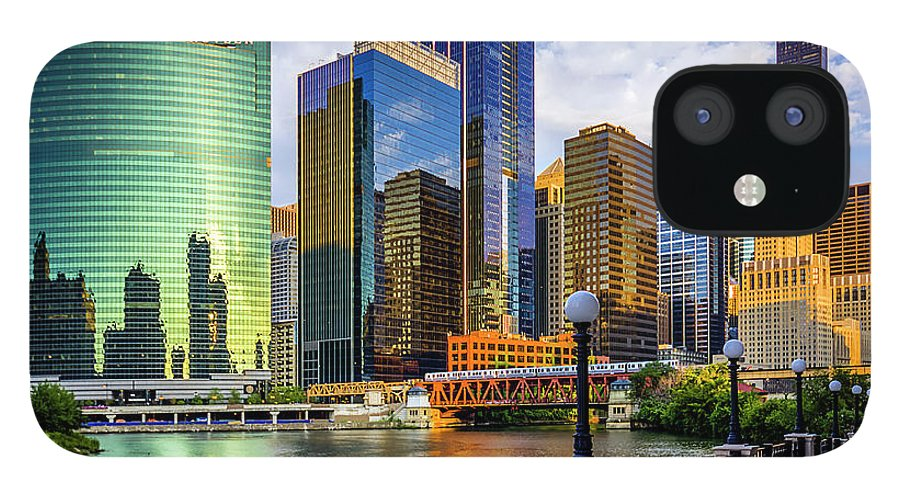 Chicago River IPhone 12 Case featuring the photograph Chicago River & Willis Tower by Carl Larson Photography