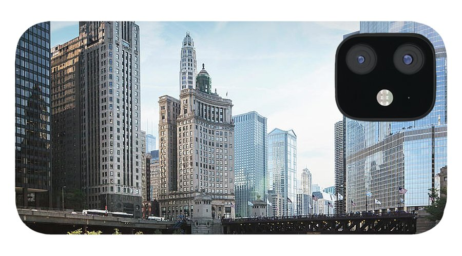 Wake IPhone 12 Case featuring the photograph Chicago River by Bjarte Rettedal
