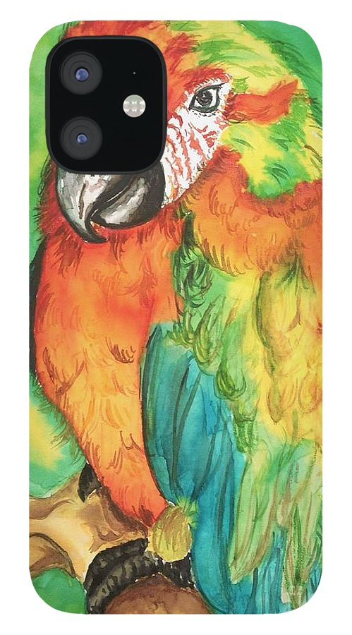 Nature IPhone 12 Case featuring the painting Chico by Norma Gafford