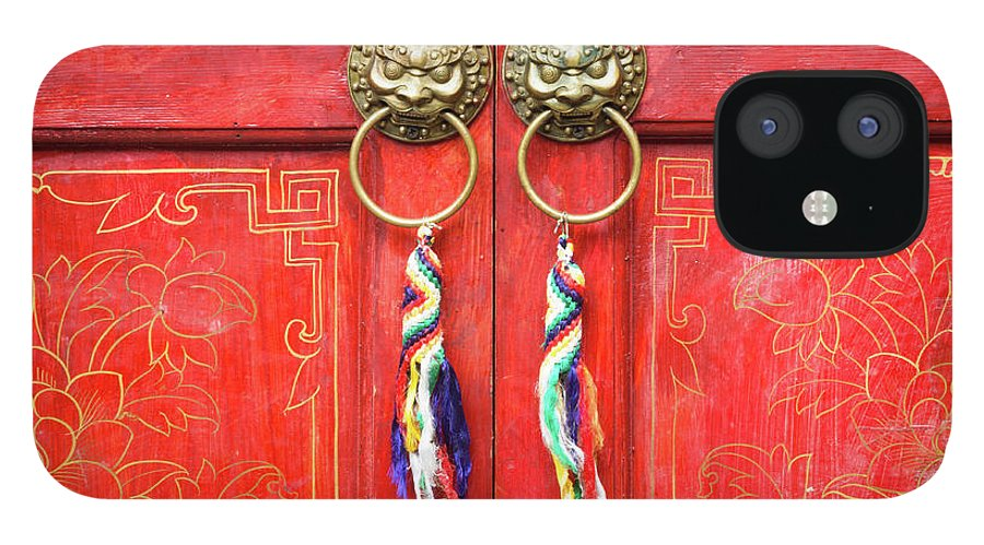 Chinese Culture IPhone 12 Case featuring the photograph Chinese Traditional Door by Loveguli