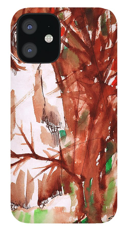 Christ In The Garden IPhone 12 Case featuring the painting Christ in the Forest by Seth Weaver