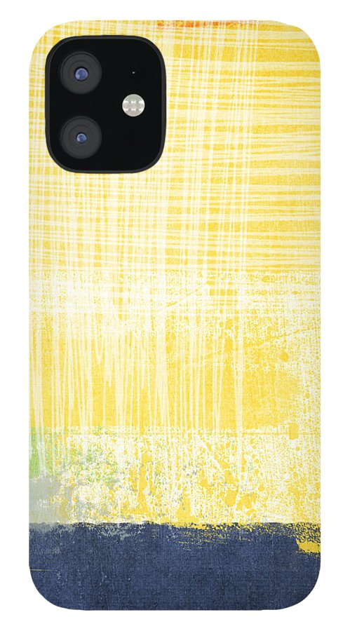 Abstract Painting IPhone 12 Case featuring the painting Circadian by Linda Woods