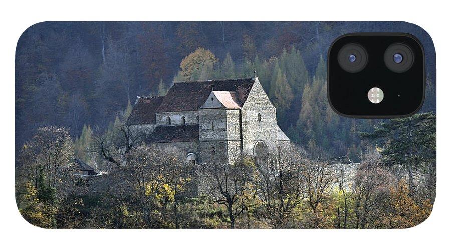 Cisnadioara iPhone 12 Case featuring the photograph Cisnadioara Michelsberg Siebenbuerger medieval Castle by Adrian Bud