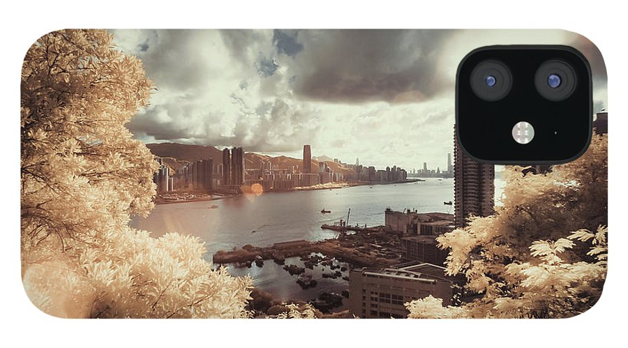 Treetop IPhone 12 Case featuring the photograph Cityscape In Dream by D3sign