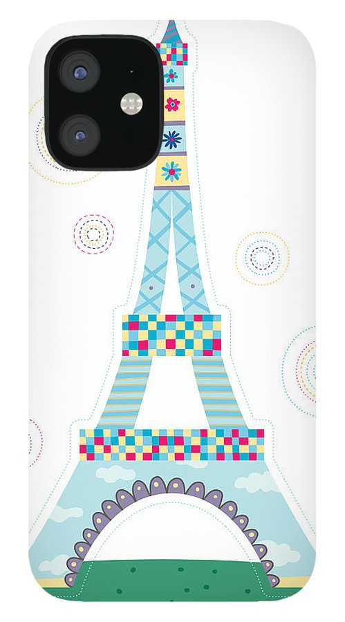 Event IPhone 12 Case featuring the digital art Close-up Of Tower by Eastnine Inc.