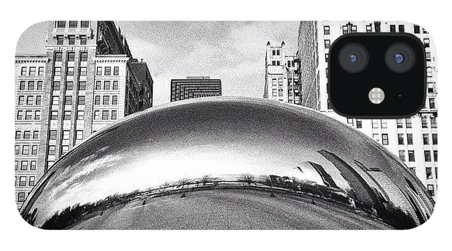 America IPhone 12 Case featuring the photograph Chicago Bean Cloud Gate Photo by Paul Velgos