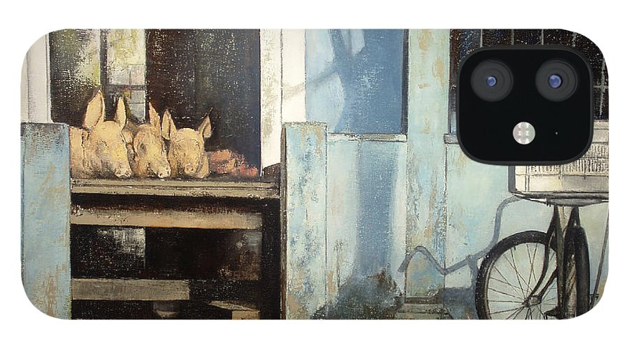 Colmado iPhone 12 Case featuring the painting Colmado-Havana by Tomas Castano