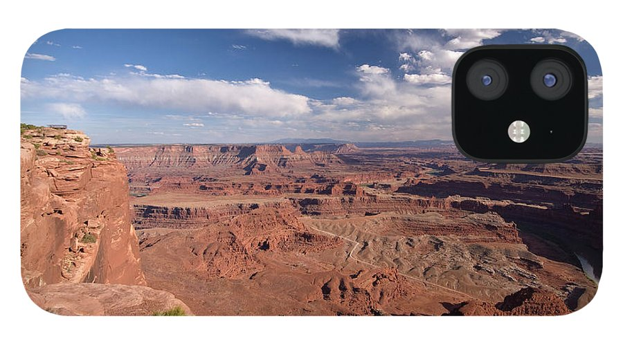 Scenics IPhone 12 Case featuring the photograph Colorado River Canyon From Dead Horse by John Elk