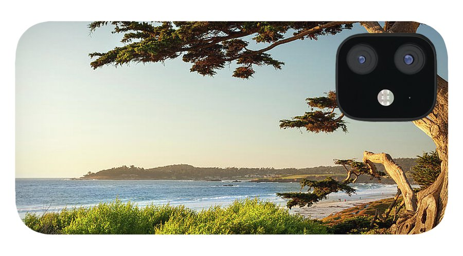 Scenics IPhone 12 Case featuring the photograph Colorful Beachfront In Carmel-by-the-sea by Pgiam