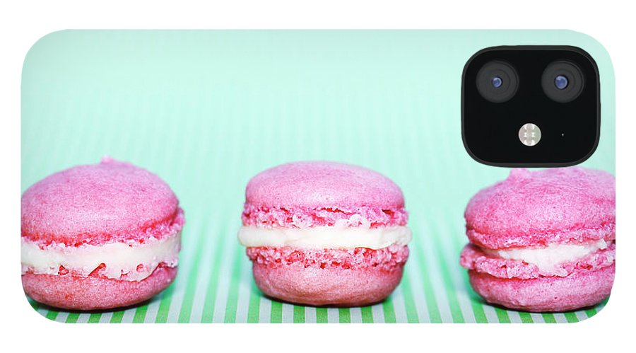 Temptation iPhone 12 Case featuring the photograph Colorful Macaroons by Tarek El Sombati