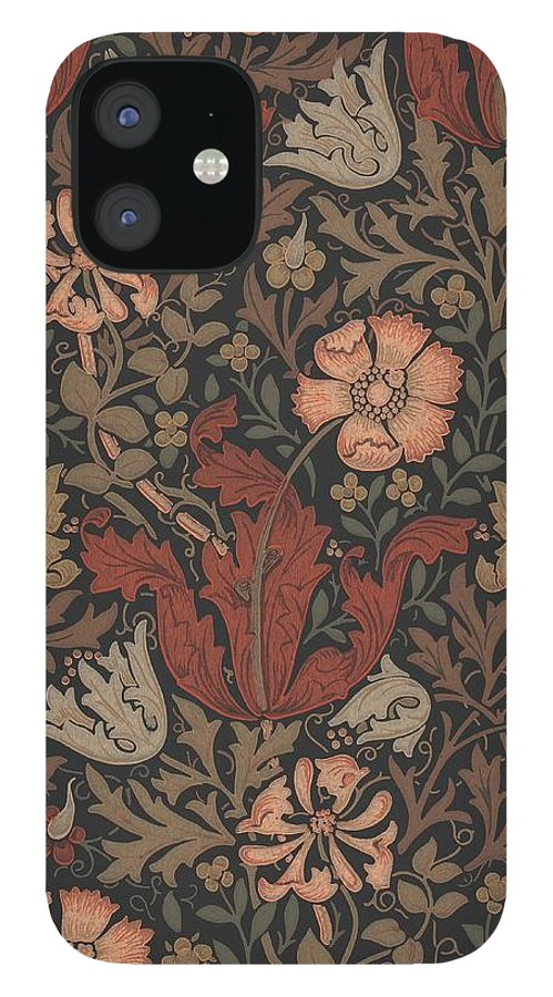 William IPhone 12 Case featuring the tapestry - textile Compton Design by Philip Ralley
