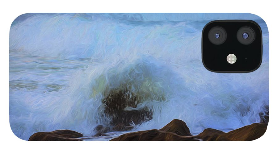 Crashing Waves iPhone 12 Case featuring the photograph Crashing waves by Sheila Smart Fine Art Photography