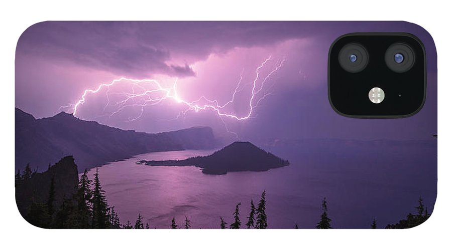 Crater Storm iPhone 12 Case featuring the photograph Crater Storm by Chad Dutson