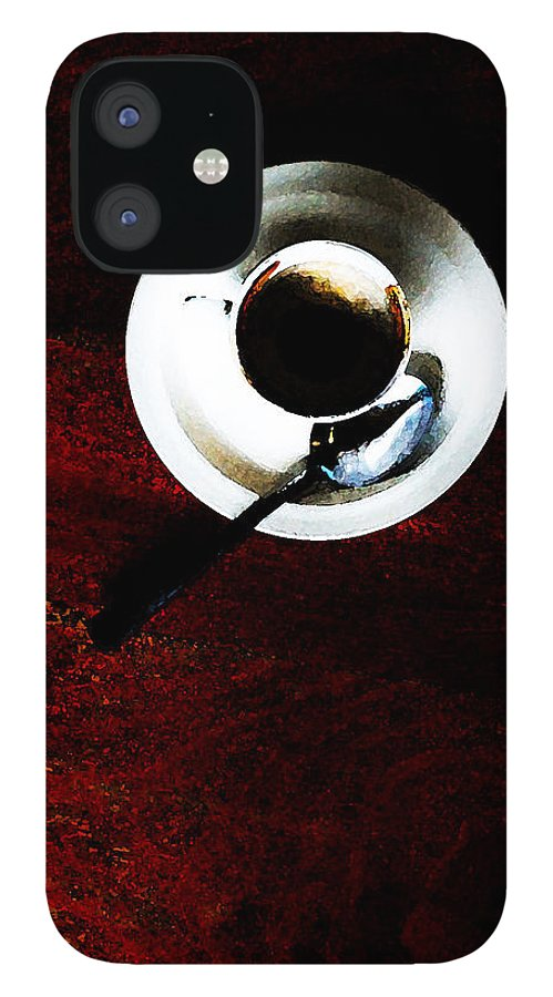 Coffee IPhone 12 Case featuring the photograph Cupp by Leon Hollins III
